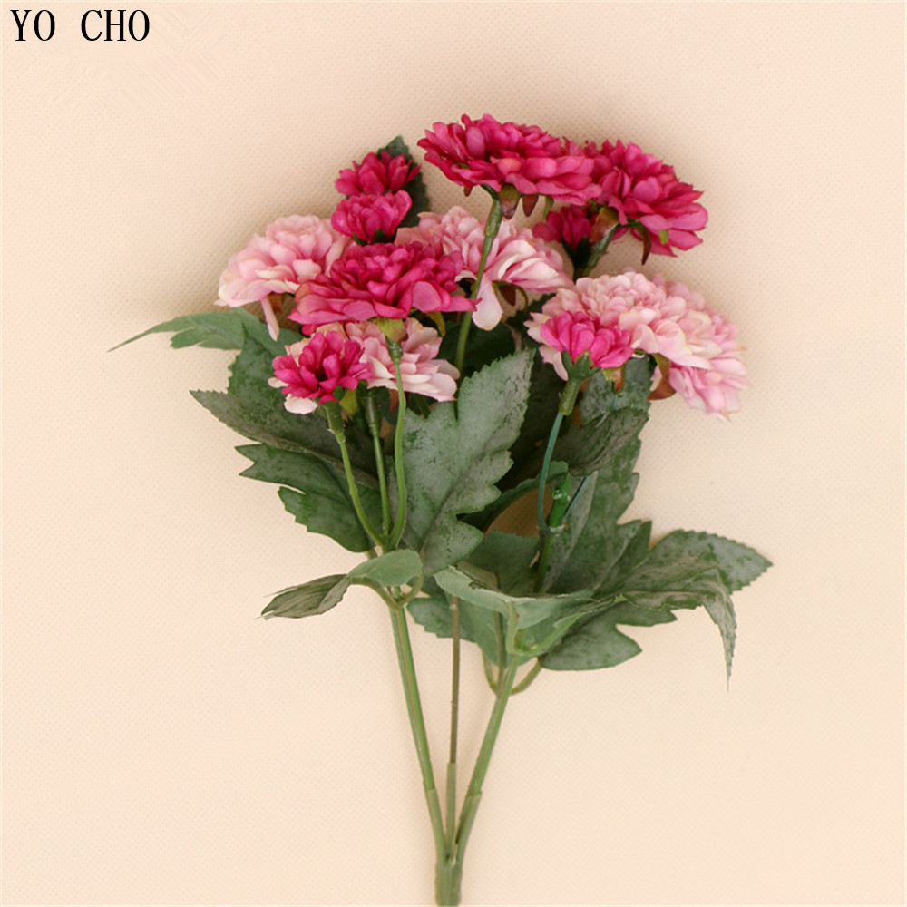 Wedding Decorations Cheap Artificial Daisy Bouquet Flower Silk Rose