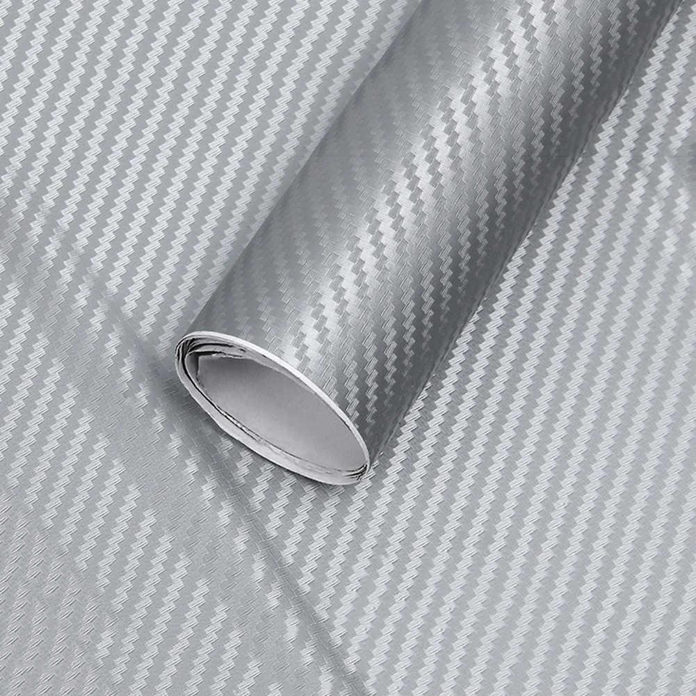 127 см * 10 см 3D углеродное волокно цветная пленка для автомобиля стикер для украшения автомобиля наклейки (10 цветов на выбор) виниловая пленка из углеродного волокна