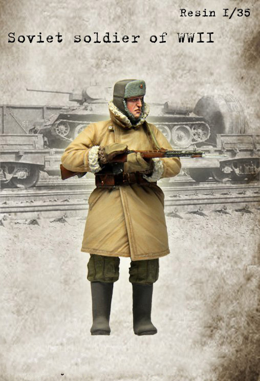 Assembly Unpainted Scale 1/35 soviet soldier winter standing wwii WAR 1938 figure Historical WWII Resin Model Miniature Kit