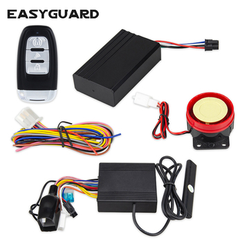 EASYGUARD pke keyless entry motorcycle alarm system security universal remote start stop with GPS tracker Android and IOS APP