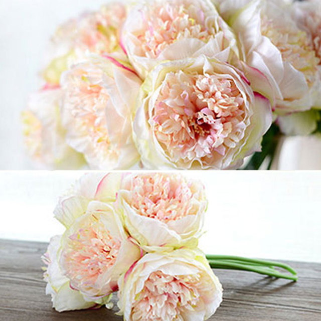 Aliexpress buy new fashion artificial fake peony silk flowers new fashion artificial fake peony silk flowers bridal bouquet flower arrangement home wedding party festival table mightylinksfo