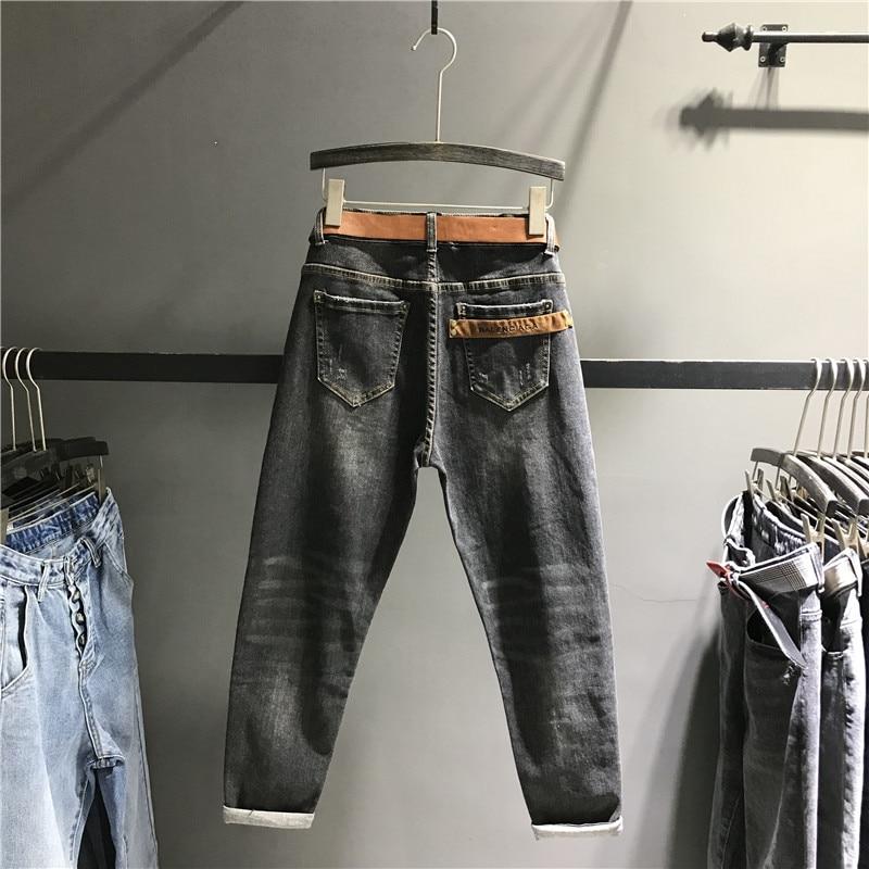 Pantalones Mujer Denim Negro K449 Alta Mujeres Dama Caliente Slim Para Casual Harem Fit Jeans De Cintura Venta q8w1ABW