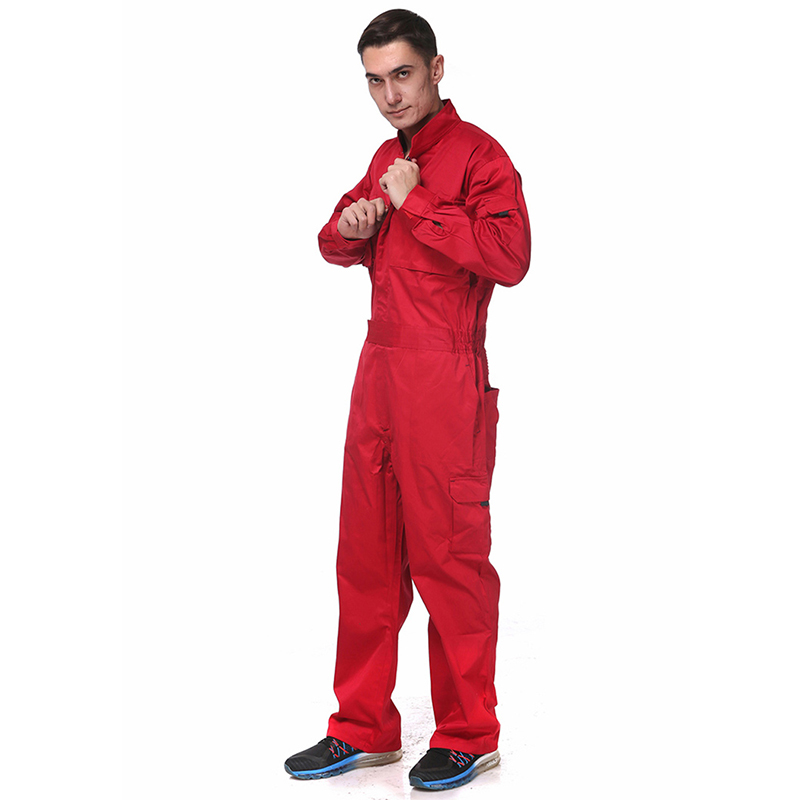 Work Overalls Long Sleeve Working Clothes Dustproof Auto repair Wear resistant Coveralls Unisex Workwear Solid Color Uniforms