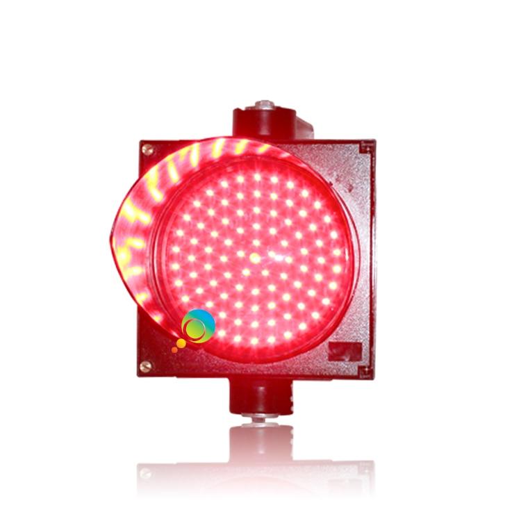 PC Housing 200mm 8 Inch Red Single Traffic Signal Light Parking Lot Traffic Light On Sale