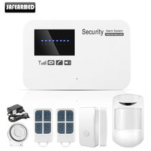 English Russian Spanish Wireless wired Home Security GSM Alarm System with Relay IOS Android APP Remote