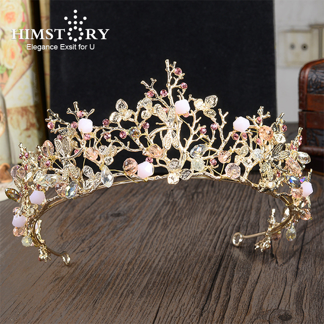 HIMSTORY Gorgeous Sweety Girls Pink Dragonfly Designs Hair Crown