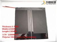 3 7V 12000mAH 37125130 Polymer Lithium Ion Li Ion Battery For Tablet Pc Onda Sanei Cube