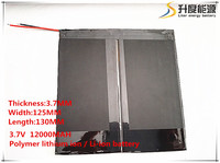 3 7V 12000mAH 37125130 Polymer Lithium Ion Li Ion Battery For Tablet Pc Onda Sanei Cube