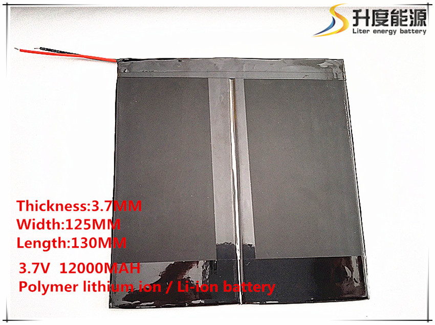37125130 3.7V,12000mAH,[37125130] Polymer lithium ion / Li-ion battery Tablet computer general battery
