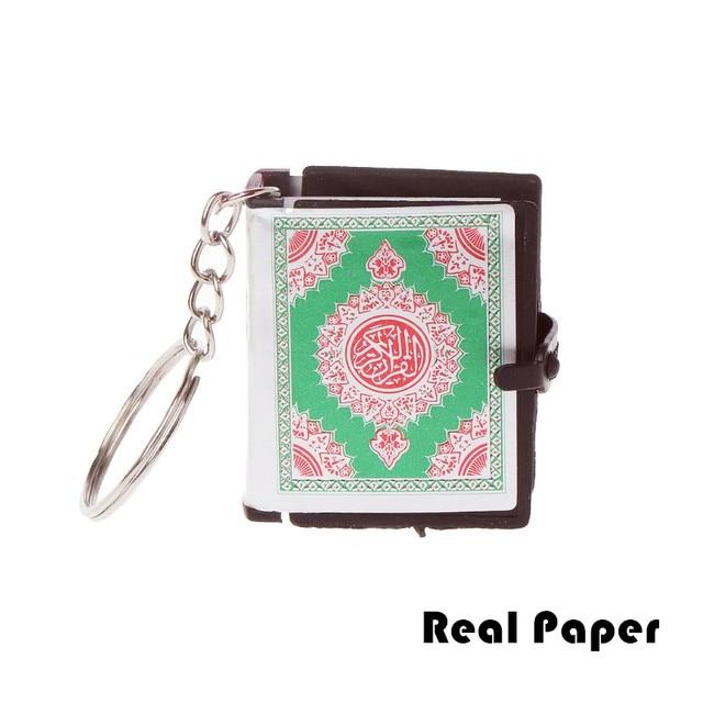 Mini Ark Quran Book Keychain Real Paper Can Read Arabic The Koran Keychain Muslim Jewelry Christmas Decoration Children Gifts
