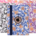 2016 New Fashion blue and white porcelain 360 Degree Rotation Leather Case for Apple iPad Mini 1 2 3 4 Cover funda
