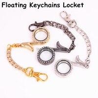 10 cái/lốc Thời Trang Hợp Kim Musical Ghi Chú Kính Từ Tính Nổi Locket Rhinestone Charms Locket Pendant keychains