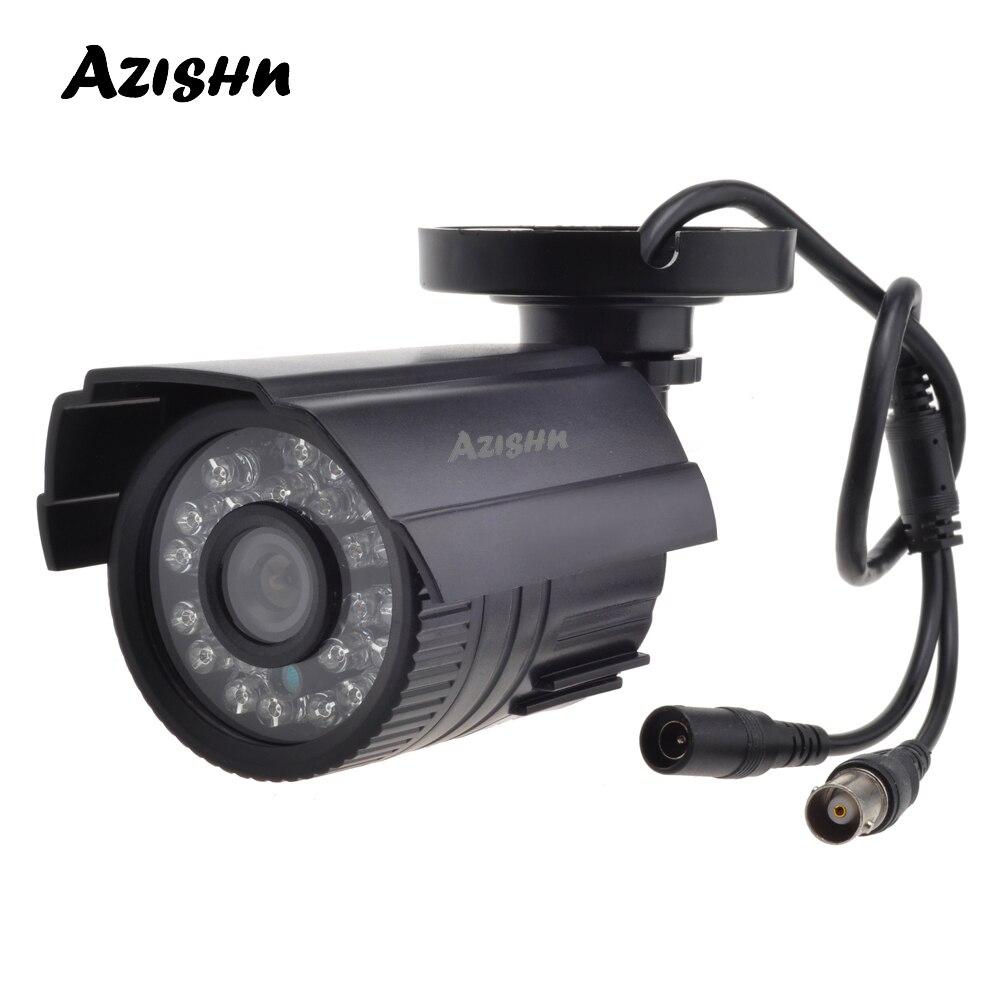 Caméra de vidéosurveillance AZISHN 800TVL/1000TVL filtre coupe IR 24 heures Vision jour/nuit vidéo extérieure étanche caméra de Surveillance par balle IR