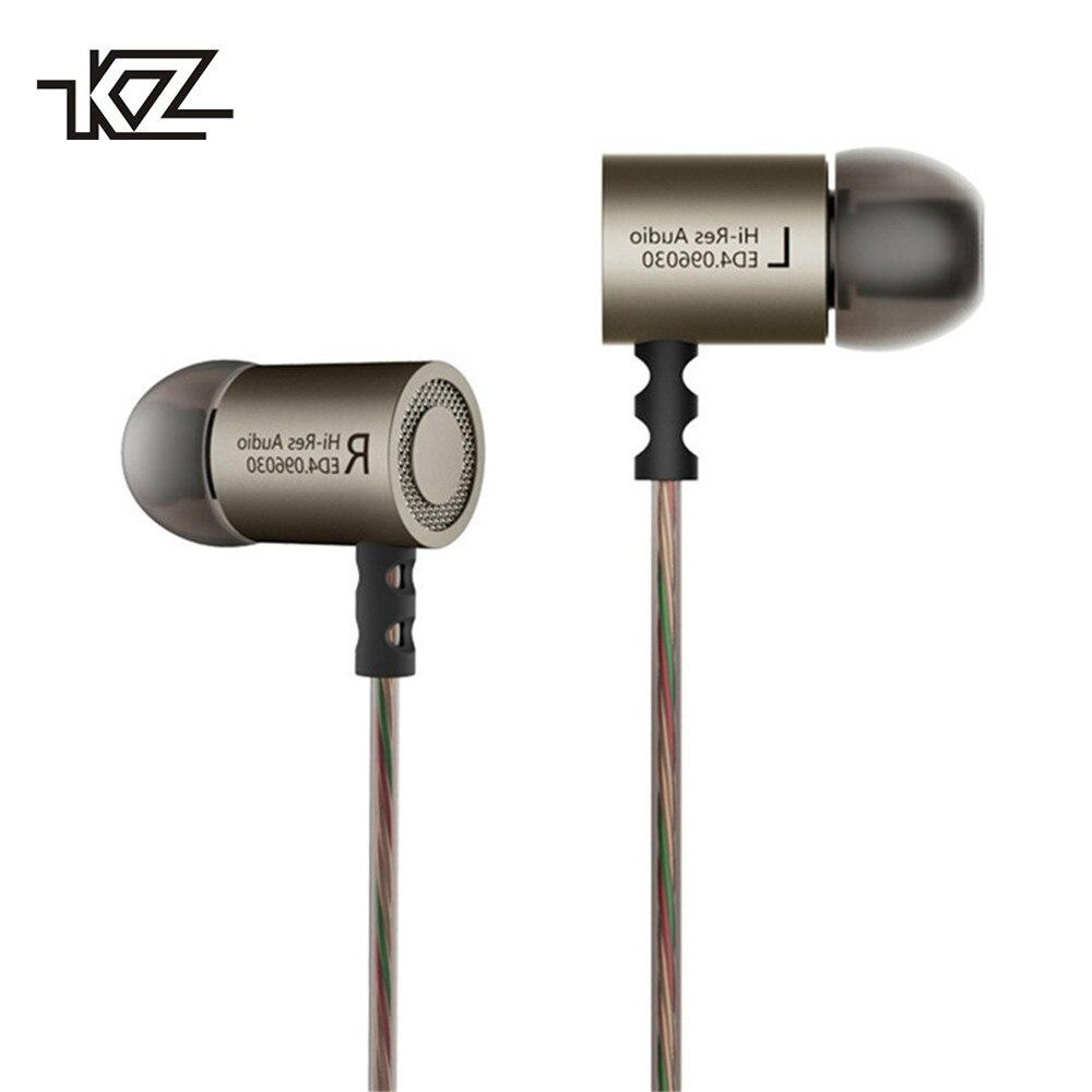 KZ ED4 Fil Écouteurs Avec Microphone Professionnel de Haute Qualité Super Bass HIFI Musique Écouteurs Antibruit Pour Mobil téléphone