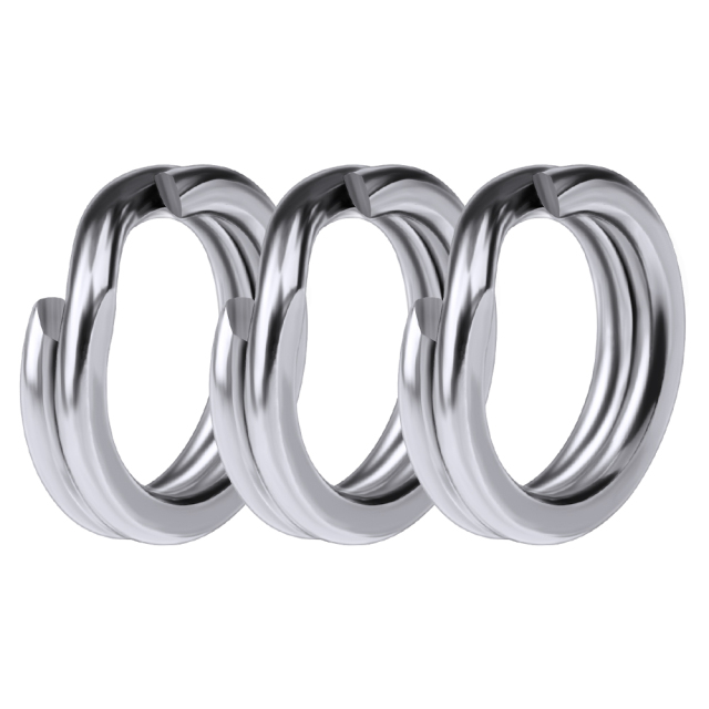 100pcs Fishing Split Rings for Crank Hard Bait Silver Stainless Steel 3#-8# Double Loop Split Open Carp Tool Fishing Accessories 5