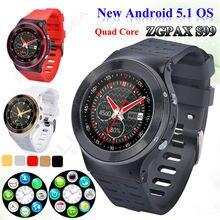 Freies verschiffen! ZGPAX S99 3G HD Smartwatch Android 5.1 1,33 zoll 1,3 GHz Quad Core GPS Phone Kamerad