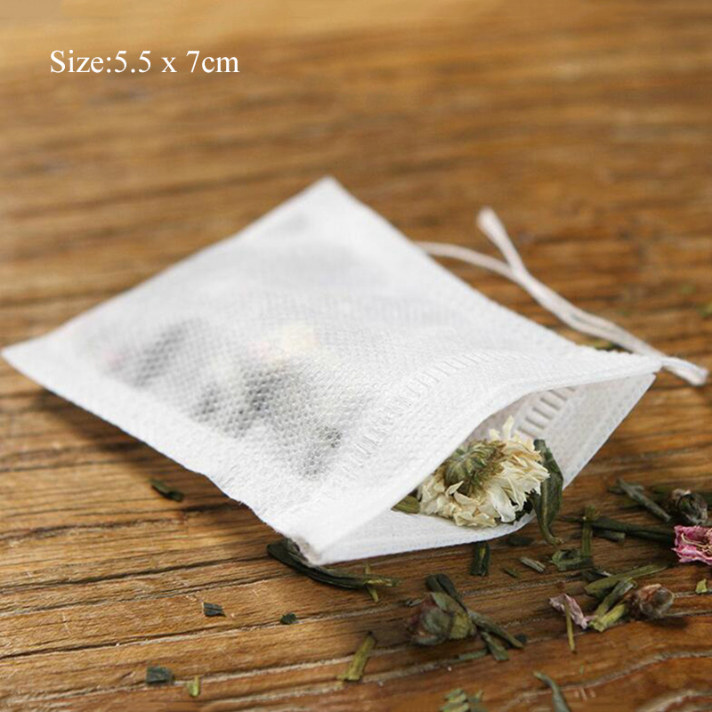 Eco-friendly Disposable Herb Bag Infuser Non-woven Fabric With String and Seal - Tea Coffee Herbal 13