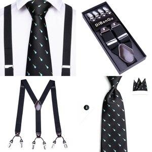 Image 5 - Подтяжки мужские кожаные, роскошные винтажные повседневные с 6 зажимами, для брюк и вечеринок, подарок для мужчин, 20 видов