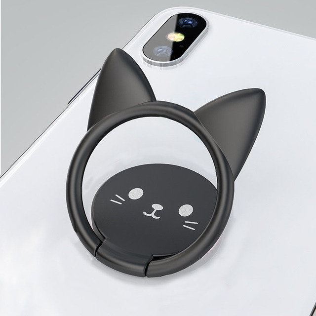 Cat Themed Cell Phone Ring Holder with Magnet
