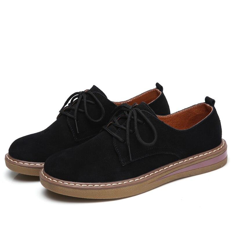 Designer Véritable Chaussures Plat Avec Lacets Femmes De Vache Solide Cuir bleu Noir Oxford kaki Automne Beyarne Sport Appartements En wqRX5tfxOn