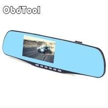 Cheaper Car Camera Dual Lens Rearview Mirror Auto Dvrs Cars Dvr Recorder Video 4.3 Inch Full Hd1080p Dash Cam Camcorder Night Vision
