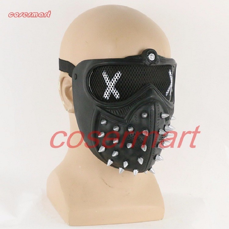 Game Cosplay Mask Watch Dogs 2 Mask Marcus Holloway Mask Casual Tangerine Mask Halloween Party Prop (2)