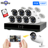 Full HD 8CH NVR 1080P POE 48V CCTV System Kit 2MP Indoor Outdoor IP Camera Waterproof