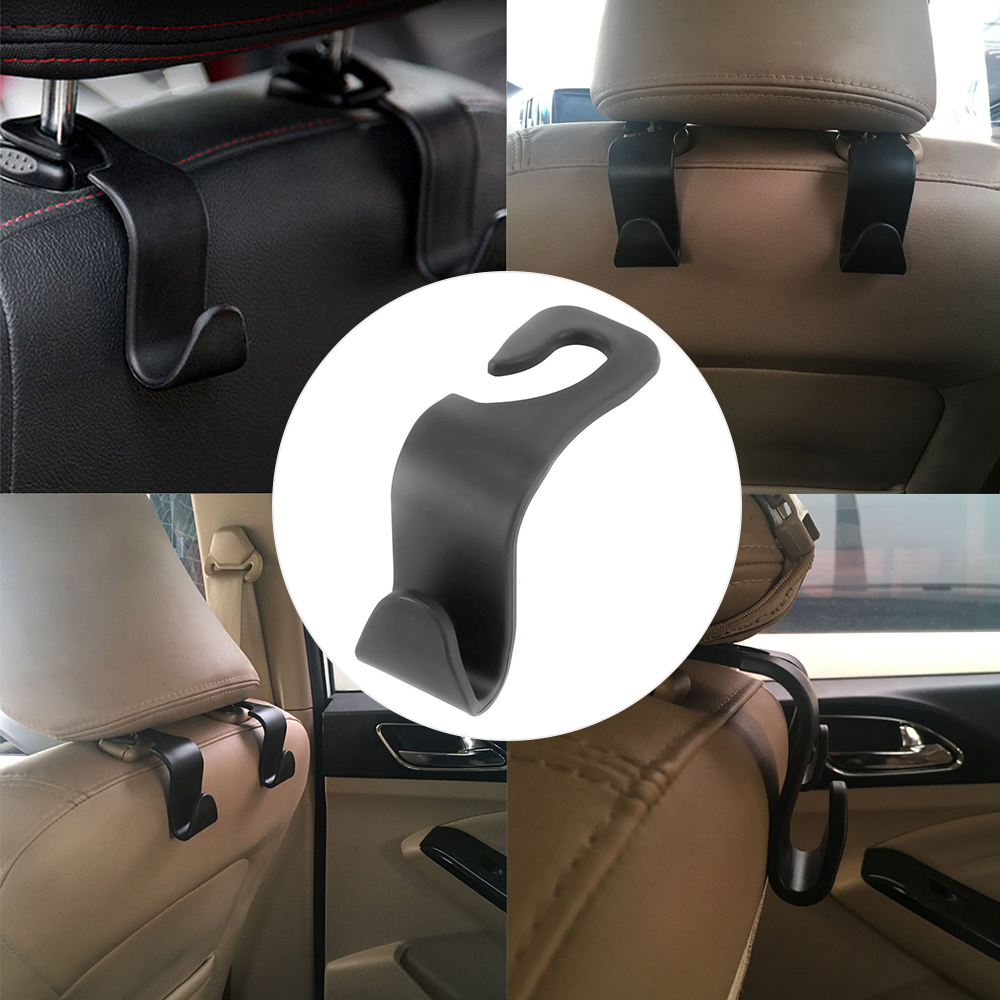Creative Car Seat Back Hooks Hanger Organizer Universal Headrest Mount Storage Hook House Storage Simple Styling Car Coat Ha