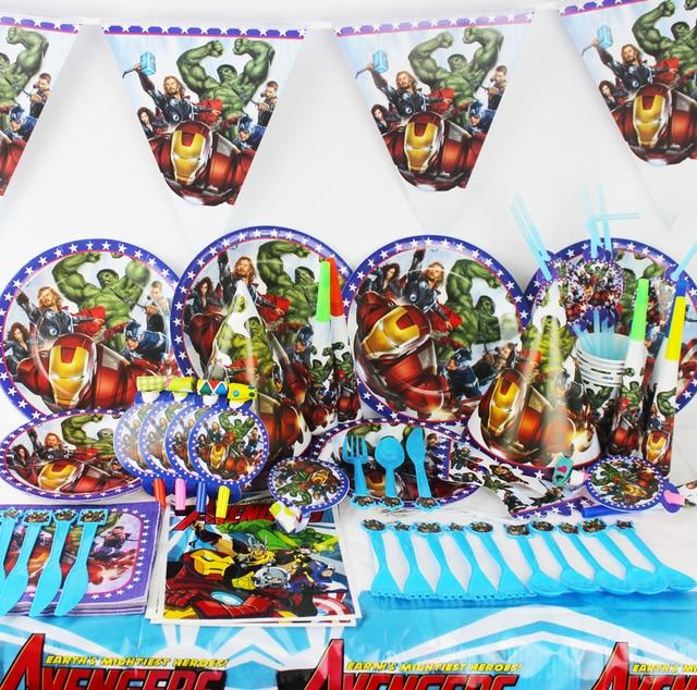116/78/90pcs The Avengers party set supplies kids birthday wedding suppliers girls child  sc 1 st  AliExpress.com & 116/78/90pcs The Avengers party set supplies kids birthday wedding ...