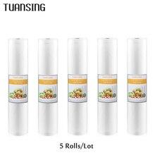 5 Rolls/Lot Cucina Sacco a Vuoto Cibo Borse contenitore Per Sigillatore di Vuoto 12/15/20/25/ 28cm * 500 centimetri