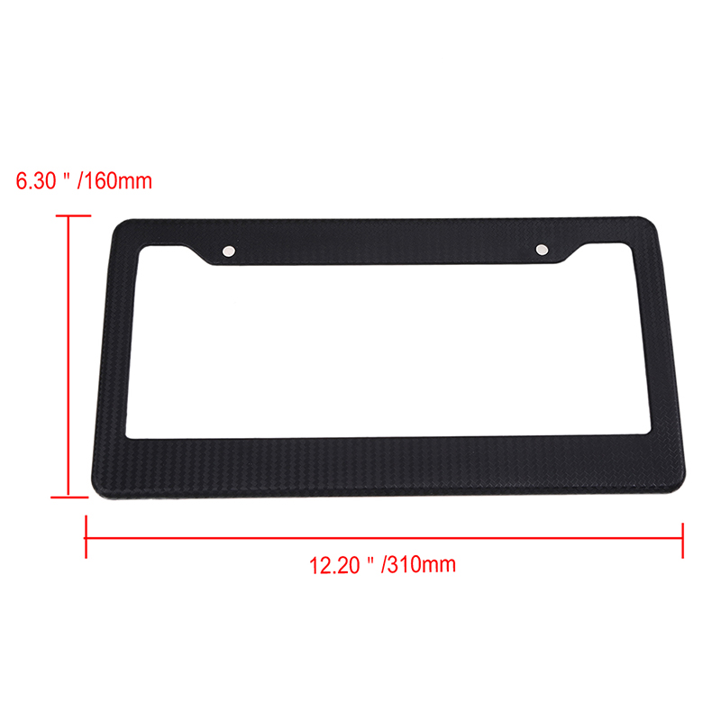 Universal Black Plastic Metal License Plate Frame Bracket Holder for Car Auto