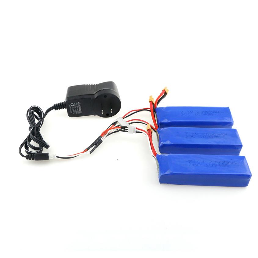 3PCS XT30 Plug 7.4V 2300mAh 35C LiPo Battery For MJX Bugs 3 And Other RC Z731 квадрокоптер mjx bugs 3