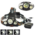 RJ-3001 USB Input/Output Led Headlight 3*LED  T6+ 2R5 5000LM,4 Mode Headlamp Bike Lamp ,With Dc Charger