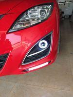 EOsuns COB Angel Eye Led Daytime Running Light DRL Fog Light Projector Lens For Mazda 6