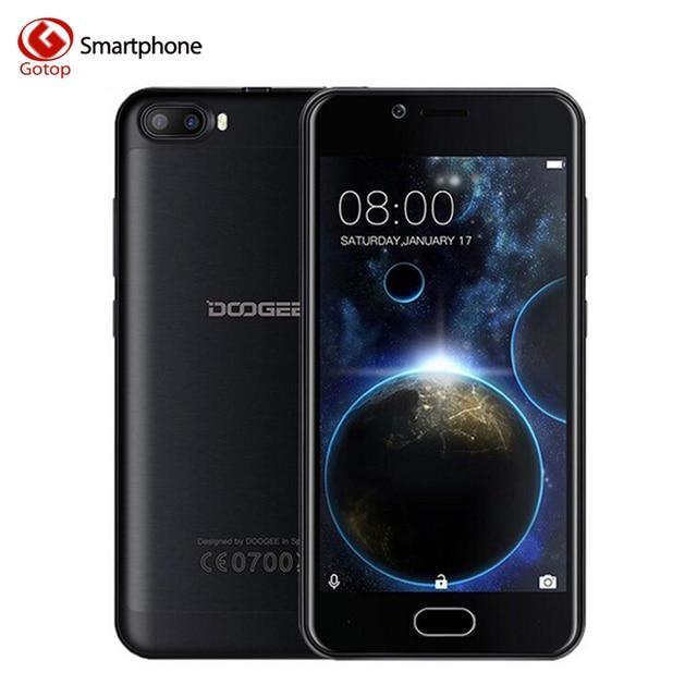 Doogee Стрелять 2 Смартфон Android 7.0 MT6580A Четырехъядерный Мобильный телефон 2 ГБ RAM 16 ГБ ROM Двойная задняя камера Разблокирована Сотовый телефон