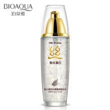BIOAQUA 100ml Silk Protein Hyaluronic Acid Liquid Toner Moisturizing Toner Oil Control Shrink Pores Anti wrinkle Skin Care Serum