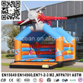 Airplane inflatable bounce bed, inflatable moonwalk for toddlers