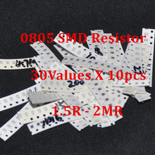 300pcs Resistor Pack SMD 0805 Resistors Kit Resistencias Trousse Chip 30Values X 10pcs Fixed 1.5 ohm – 2Mohm 2012 SMD Resistance