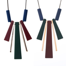 Match-Right Women Necklace Statement Long Necklaces & Pendants Wood Sweater Necklace For Women Jewelry YJZ-8006