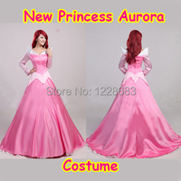 Newest Deluxe Costume Dress Adult Sleeping Beauty Costume Princess Aurora Dress Women Costume