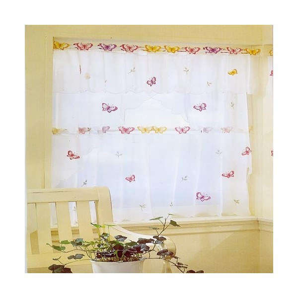 US $6.5 |small butterfly sheer curtain white kitchen curtains window  valance 3 sizes 3d butterfly curtains-in Curtains from Home & Garden on ...