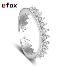 Роскошные инкрустированные AAA циркон кольцо темперамент для женщин 925 стерлингового серебра ювелирные изделия римская Корона Кольца модные простые ювелирные изделия