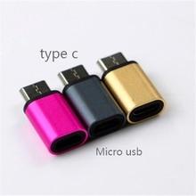 USB 3.1-Tipo C Macho para Micro USB Fêmea Cabo Adaptador USB-C tipo C Conversor Para Macbook Nokia N1 ChromeBook Nexo 5X6 P