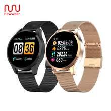 Newwear Q9 Смарт-часы модные Бизнес Для мужчин Для женщин Водонепроницаемый сердечного ритма крови Давление монитор Фитнес браслет «Умные» часы VS Q8