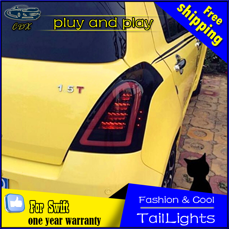Car Styling LED Tail Lamp for Suzuki Swift Tail Lights 2005-2014 Swift Rear Light DRL+Turn Signal+Brake+Reverse auto Accessories 1 piece car sticker styling waterproof 4d led el cold light badge logo emblem lamp for suzuki swift alto