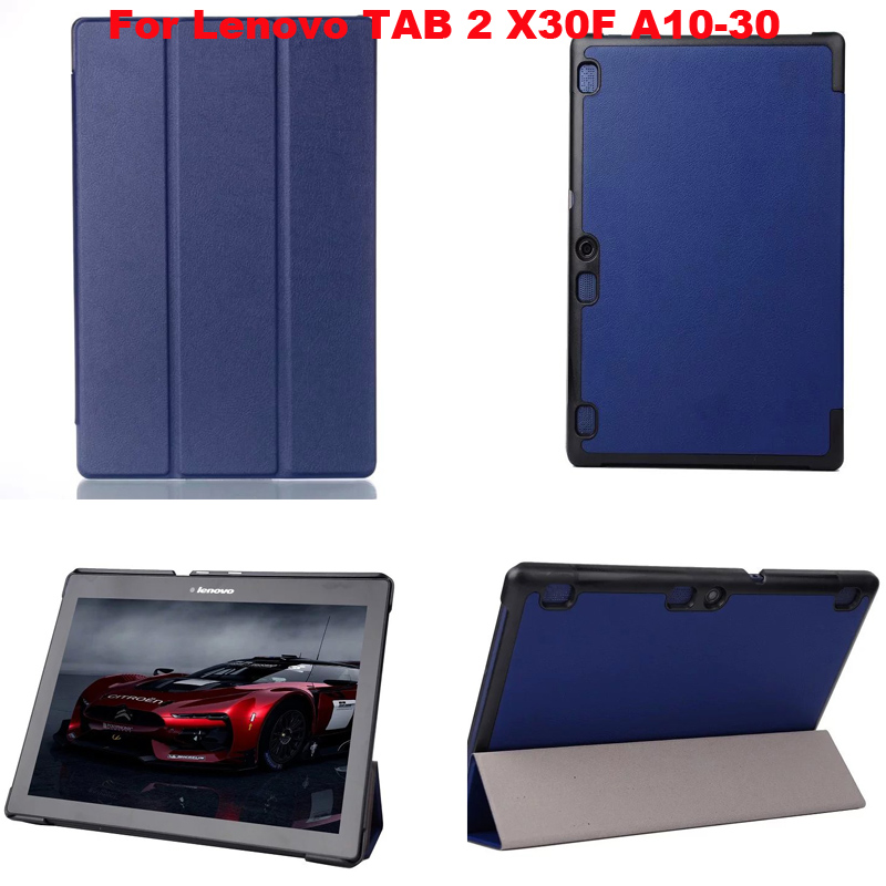 For lenovo tab 2 A10-30 case Magnet Stand Pu leather case cover For Lenovo TAB 2 A10 30 X30F X30L tablet cases + Film protectors