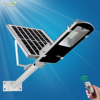 Ha condotto la luce di Via Solare Esterno Ha Condotto La Luce Solare Impermeabile Solari di grandi dimensioni del Pannello di Controllo Remoto 100 W Solare Ha Condotto La Luce di Via giardino