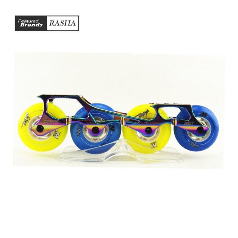 Prix pour À roues alignées Cadres rouleau cadre de patinage inline patinage cadre en aluminium freeline skate tenir banane cadre de skate châssis