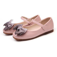 Girls Leather Shoes for Autumn New Bowtie Girl Single Shoes Children's Cute Princess Shoes