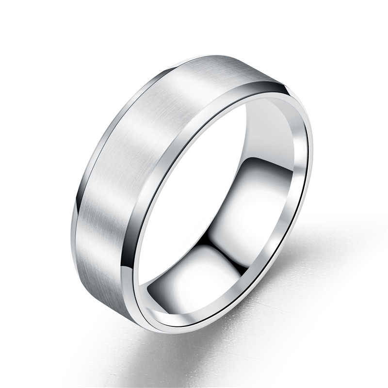 2019 New black Titanium Steel finger ring for men silver plated rings Women Glossy accessories Ring Jewelry Couple fashion Rings